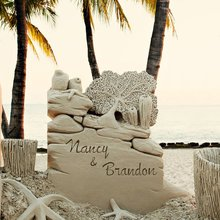 Sand Sculptures Making a Splash at Beach Weddings