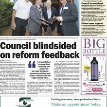 Council blindsided on reform feedback