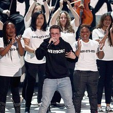 Logic uses platform for powerful statement during MTV VMAs performance
