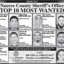 A.B. Quintanilla III has been placed on the Nueces County Sheriff's Department top 10 most wanted...