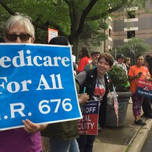 Residents Rally Outside Congressman's Office to Support Medicare