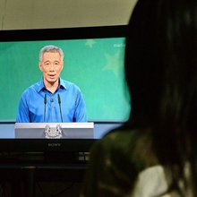 Scare in Singapore as PM faints in televised speech