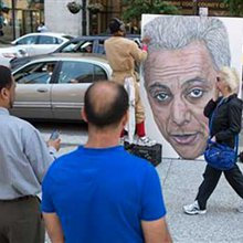 Art plays key role in Chicago mayor's re-election hopes