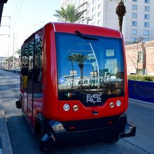 RTA operator Transdev demos self-driving shuttle, to mayor's approval