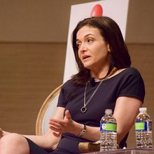 "At New Orleans appearance, a polished Sheryl Sandberg says ""it gets better"""