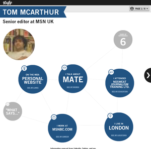 Tom McArthur's Vizify Bio
