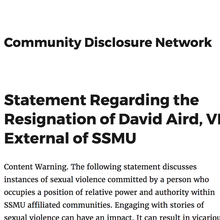 Yet Another SSMU Debacle: David Aird, SSMU Execs, and the Need for Accountability