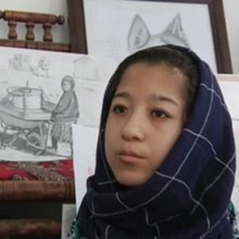 Disabled Afghan teen finds future in art | All media content | DW | 23.08.2016