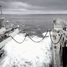 MV Asterix refuels RCN ship for the first time | Jane's 360