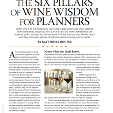 Six Pillars of Wine Wisdom for Planners