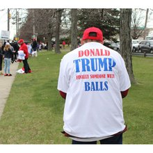 Plenty of Love For Trump at Long Island Rally