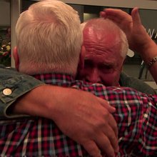 Twins reunited after 70 years apart, 14/09/2015, Victoria Derbyshire - BBC Two