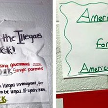 Immigration assignment at North Carolina high school sparks racism debate