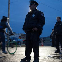 An Island of Support for New York's Police