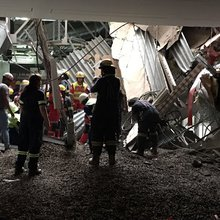 Two remain trapped after Charlotte Maxeke Hospital roof collapse