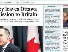 My 2012 Globe and Mail front page
