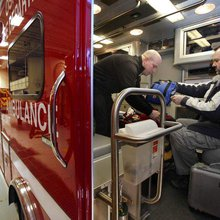 Inspecting ambulances in Wisconsin is a one-man job
