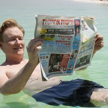 Conan meets refugees in West Bank, hangs out with Gal Gadot in Israel special