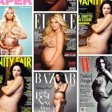 A History of Pregnant Celebrities Posing Naked on Magazine Covers
