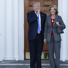 DeVos' journey from choice leader to Trump appointee