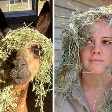 Sydney zookeepers post hilarious photos mimicking animals at Symbio Wildlife Park
