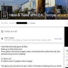 Police will monitor plans for giant hide-and-seek game inside Sydney IKEA as the furniture giant ...