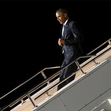Obama Lands to Controversy in Kenya