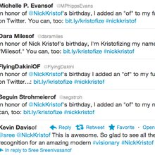 Kristofize: Social birthday present for Nick Kristof aims to do good