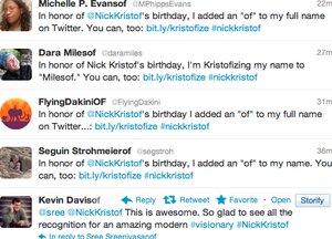 Kristofize: Social birthday present for Nick Kristof aims to do good