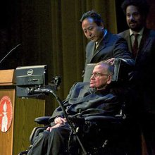 Stephen Hawking talks black holes at Caltech