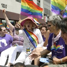 Edie Windsor, Mayor Bloomberg, Anthony Weiner, and Batman and Robin Marched in New York's Gay Pri...
