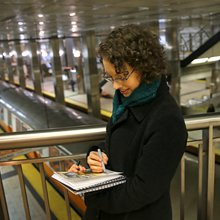 With daily commute as muse, artist evokes hidden beauty of MBTA stations and routes