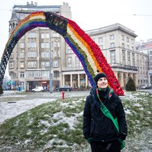 In Warsaw, Rainbow Sculpture Draws Attacks