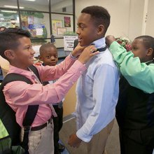 Connally ISD boys learning to be Modern Gentlemen