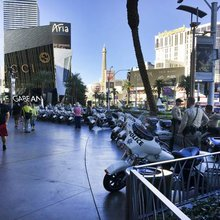A day after horrific event, a semblance of normalcy along Strip