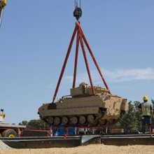 Bradley vehicle from 'Thunder Run' installed at future army museum