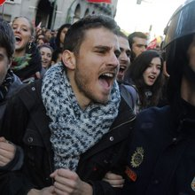 Schools, Shops, Factories Closed As Millions Strike Against Austerity Measures In Eurozone