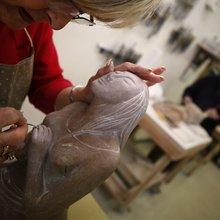Las Vegas students uncover hidden talents in sculptor's classes