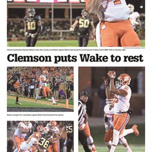 Clemson beats Wake Forest (inside photo page)