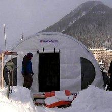 Inside Davos summit's Arctic basecamp