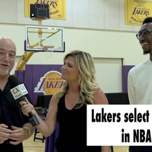 The Lakers select four players in the NBA Draft