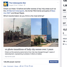 Facebook post for IndyStar brand page