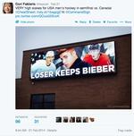 """""""Loser Keeps Bieber"""" tweet"""