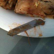 Machine blade found in Market Square meal