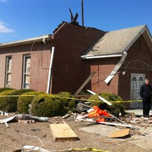 Tornado in Gibson damages church