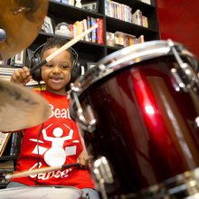 Catonsville student, a precocious little drummer boy, is trying to beat back leukemia