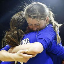 """Little old Dayspring"" basks in the joy of its undefeated state volleyball championship"