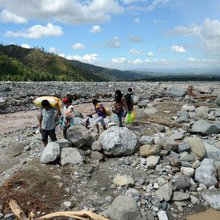 Debris flow: Legazpi City in 2006, New Bataan in 2012