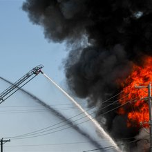 Massive fire at Clearfield's Albion Minerals shuts down power, Main Street