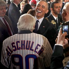 Barack Obama and the Cubs shared a historic day nobody saw coming